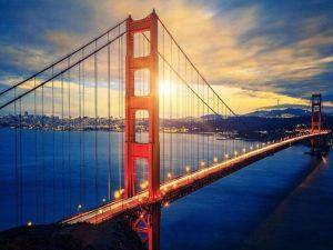 Diamond painting Golden gate bridge